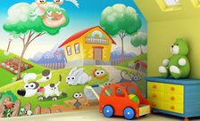 Toddler-at-a-farm-for-children-wall-murals-demur