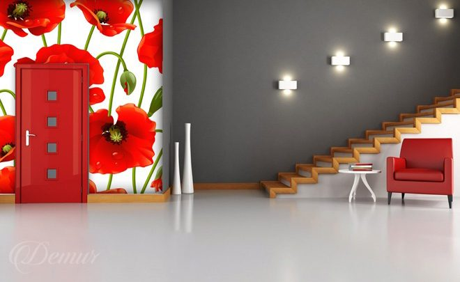 The-spring-redness-poppy-wall-murals-demur