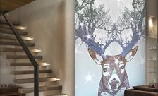 The-norwegian-antlers-animal-wall-murals-demur