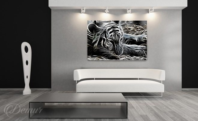 Attention-a-living-room-tiger-living-room-canvas-prints-demur