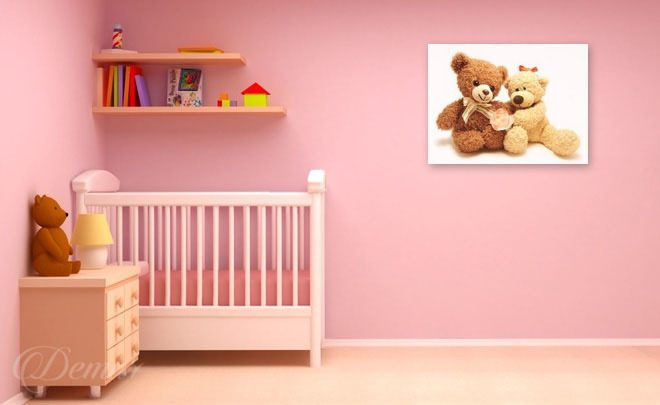 The-teddy-bear-dream-guards-childs-room-canvas-prints-demur