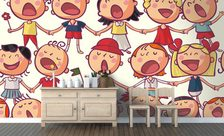 Singing-children-kindergarten-wall-murals-demur