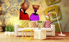 Going-out-for-water-africa-wall-murals-demur