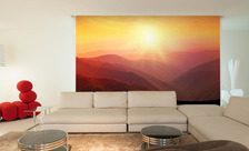 A-mountainous-sunset-mountain-wall-murals-demur