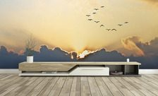 Birds-flying-toward-the-west-sky-wall-murals-demur
