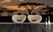 Safari-at-dusk-africa-wall-murals-demur