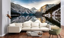 A-reflective-mountain-lake-surface-mountain-wall-murals-demur