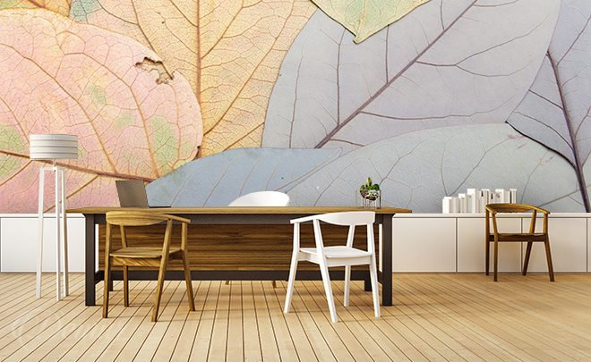 Colorful-leaves-texture-wall-murals-demur