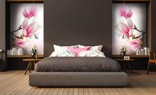 With-the-magnolia-queen-in-the-centre-bedroom-wall-murals-demur