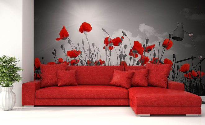 Monochromatism-in-the-colour-of-the-poppy-poppy-wall-murals-demur