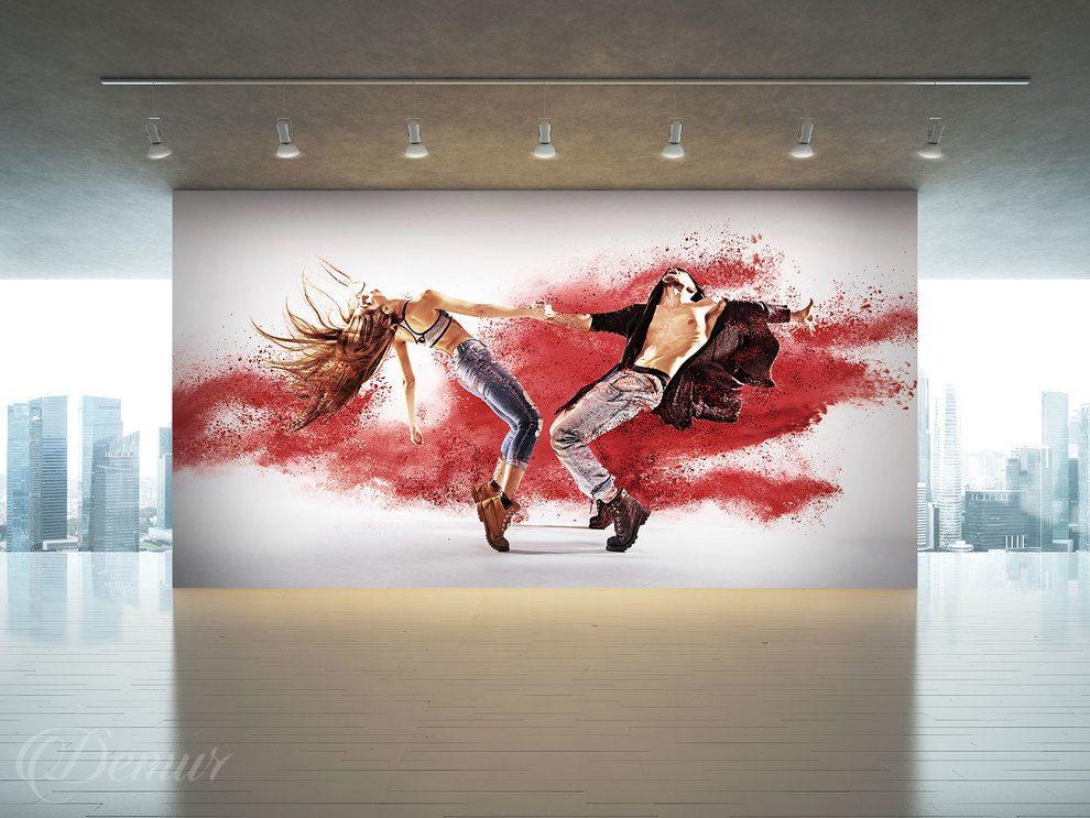 You me and the dancing steps Dance School Wall Murals Demur