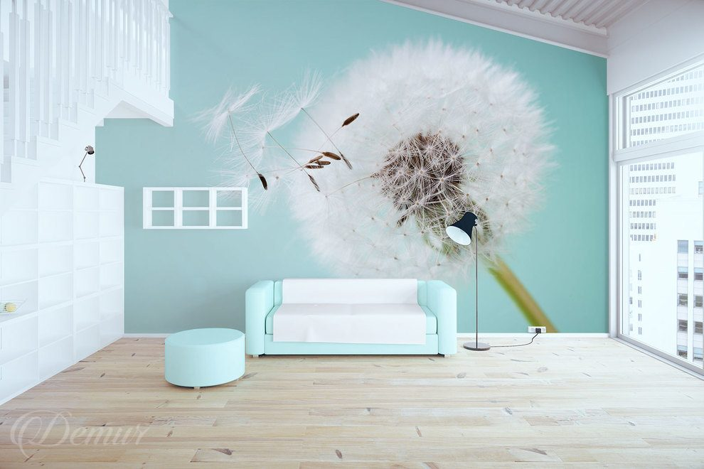 In the pastel dance of the nature Blowball Wall Murals Demur