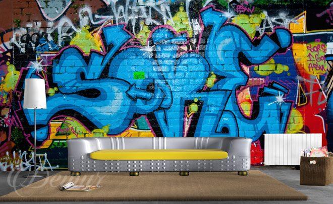 Home Graffiti Wall Mural For Teenagers Wall Murals Demur