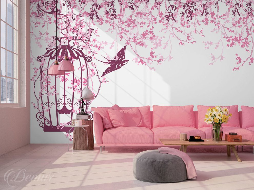 In the pink melancholy - Living room - Wall Murals - Demur
