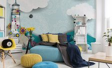 Swinging-in-the-clouds-in-the-seaside-resort-marine-style-wall-murals-demur