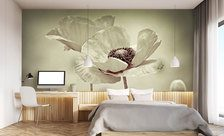 The-flower-of-the-photo-wallpaper-sepia-wall-murals-demur